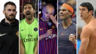 Kevin Love, Buffon, Iniesta, Nadal y Phelps.