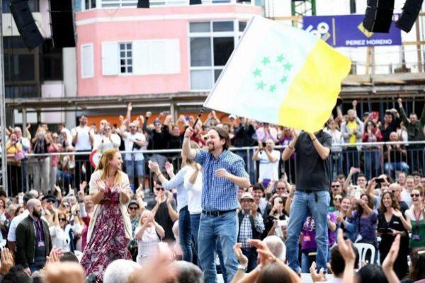 El candidato de Unidas Podemos a presidente del Gobierno, Pablo...