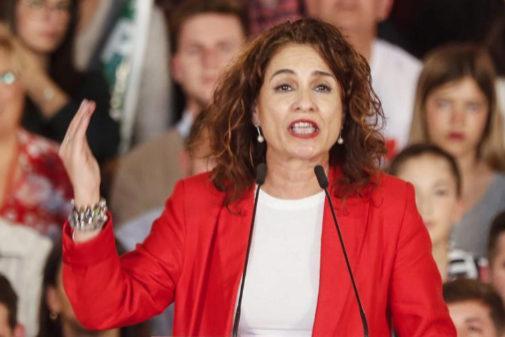 María Jesús Montero, en un acto del PSOE en Sevilla