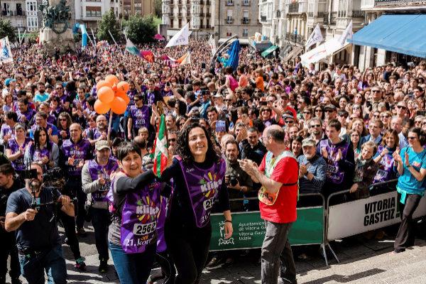 El final de la Korrika en Vitoria.