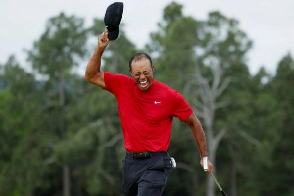 Tiger Woods tras conquistar el Masters de Augusta.