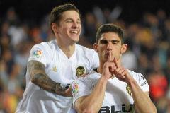El Valencia no da opción al Levante en el derbi de Mina y Guedes