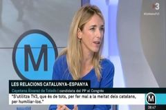 Cayetana Álvarez de Toledo, durante la entrevista