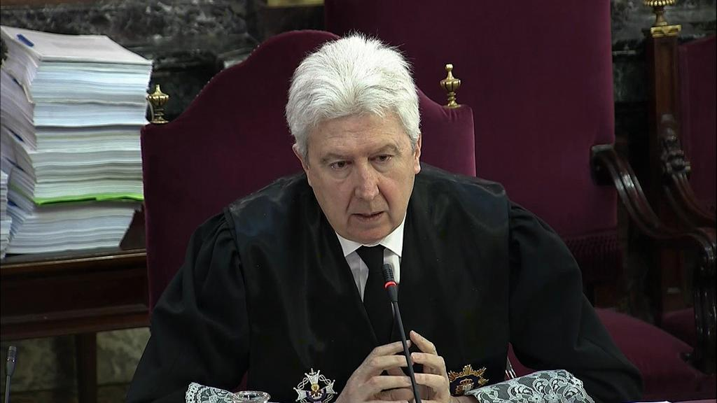 El fiscal Fidel Cadena, durante la sesión del juicio del 1-O en el Supremo.