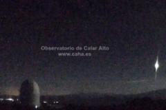 El bólido visto desde un observatorio español.