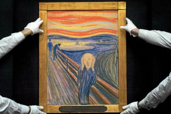 El cuadro 'El grito' de Edvard Munch en la casa de subastas Sotheby's.