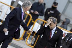 El presidente de la Generalitat acude al jucio del 1-O.