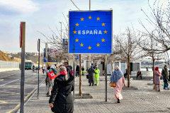 Imagen de la frontera entre España y Marruecos en Ceuta