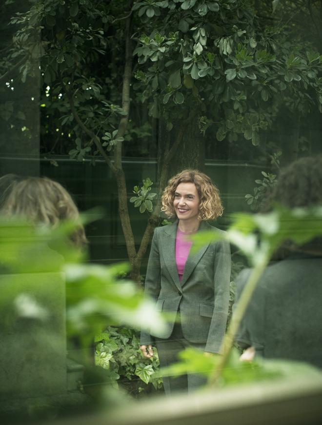 Batet, en los jardines del Ministerio.