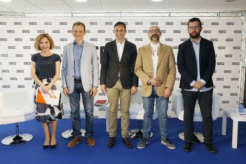 Los candidatos en el debate organizado por Radio Alicante