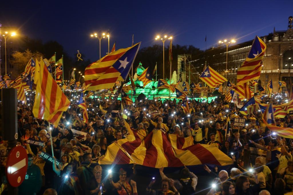 Manifestación independentista celebrada en Madrid el pasado 16 de marzo.