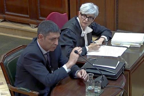 Josep Lluís Trapero, durante su declaración en el juicio del 1-O