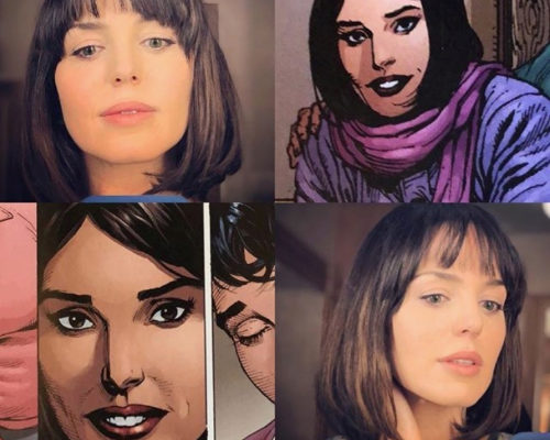 Milans destacó en Instagram su parecido con la Rosa Vasquez de las viñetas.