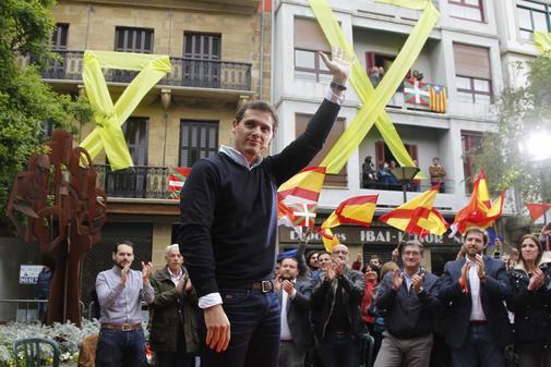 Albert Rivera, en el acto de Ciudadanos en Rentería