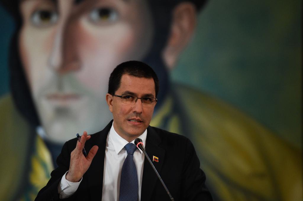 El resposnable de Asuntos Exteriores venezolano Jorge Arreza.