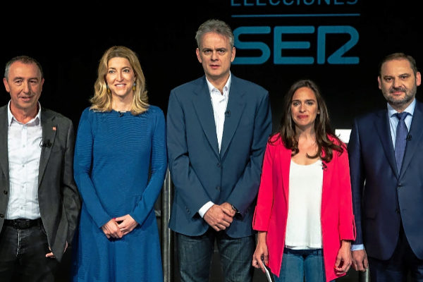 Joan Baldoví, María Muñoz, Héctor Illueca, Belén Hoyo y José Luis Ábalos.