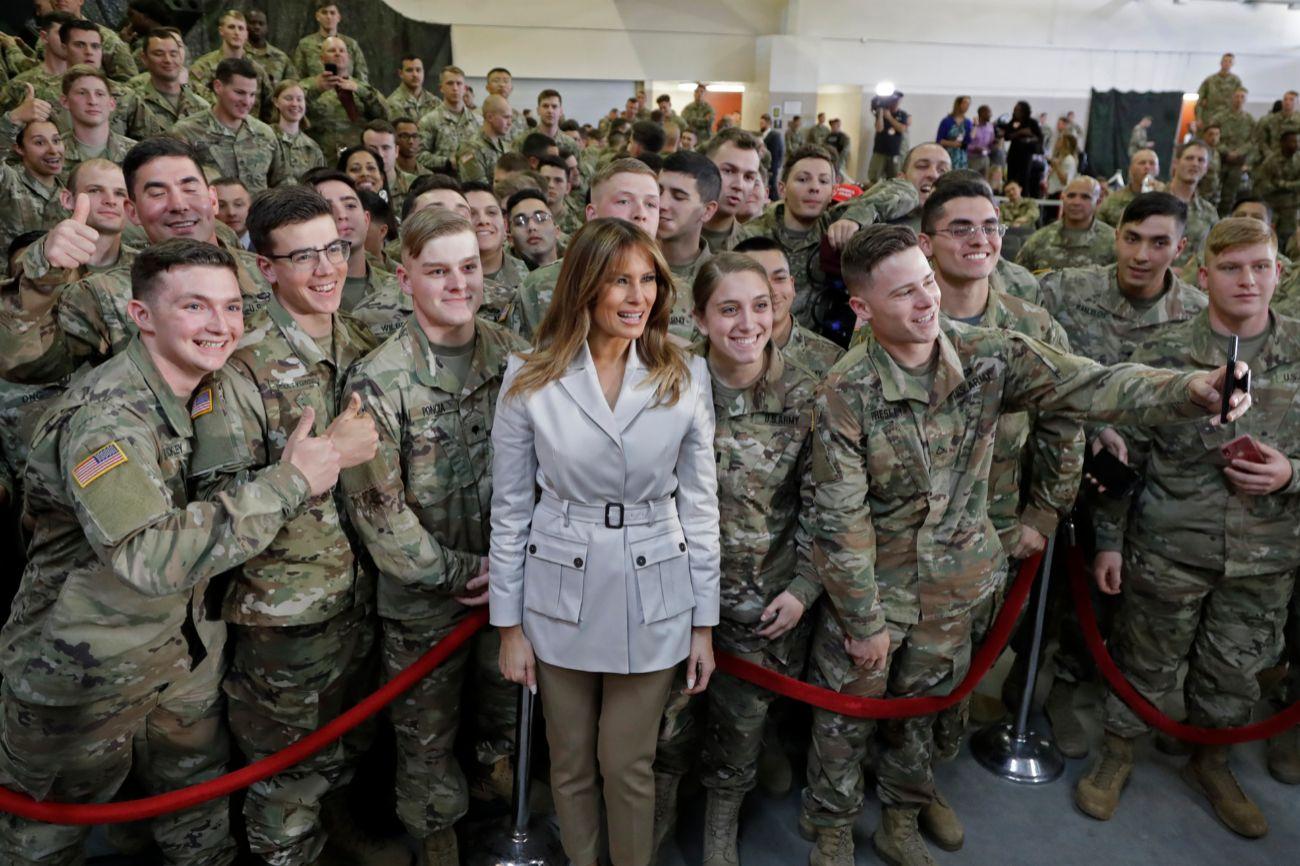 La primera dama de Estados Unidos, Melania Trump (48), ha visitado la...