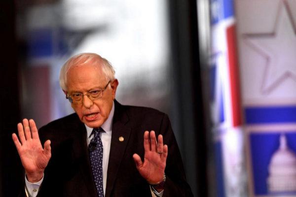 El candidato demócrata a las elecciones de 2020, Bernie Sanders, en Bethlehem, (Pensilvania).