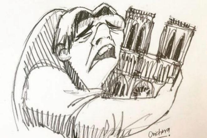 Incendio de Notre Dame: el homenaje ilustrado de las redes sociales con Quasimodo como protagonista