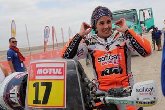 Laia Sanz, durante el último Dakar.