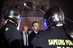 El conmovedor discurso de Macron ante Notre Dame