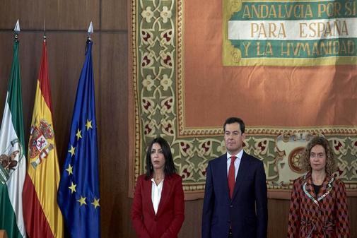 Toma de posesión de Juanma Moreno como presidente de la Junta de Andalucia.