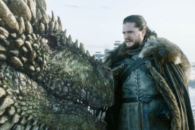 Jon Nieve (Kit Harington) antes de montar en dragón en la octava...