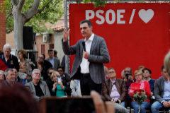 Pedro Sánchez, durante un acto de campaña en Madrid.