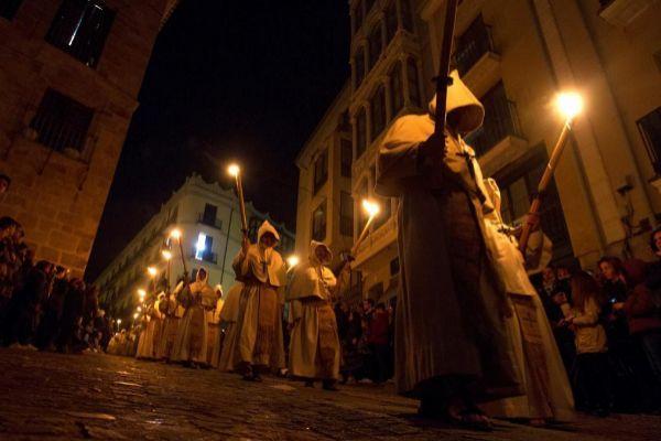 El desfile procesional del Cristo de la Buena Muerte.