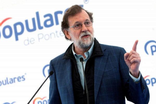 Mariano Rajoy, el sábado, en un mitin en Mos (Pontevedra).