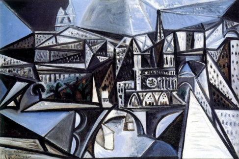 'Vue de Notre Dame de París' (1945), de Pablo Picasso.