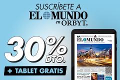 Suscríbete a El Mundo con un 30% dto. ¡Y llévate una Tablet GRATIS! Por solo 6,99¤/mes