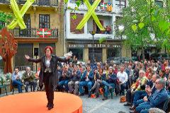 Maite Pagaza, en el acto de Ciudadanos este domingo en Rentería