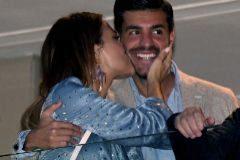 Paula Echevarría y Miguel Torres pasean su amor por las calles de Málaga