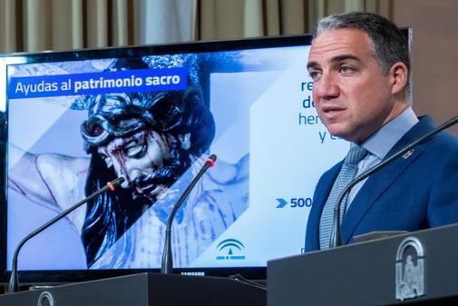 El consejero de Presidencia y portavoz del Gobierno andaluz, Elías Bendodo.