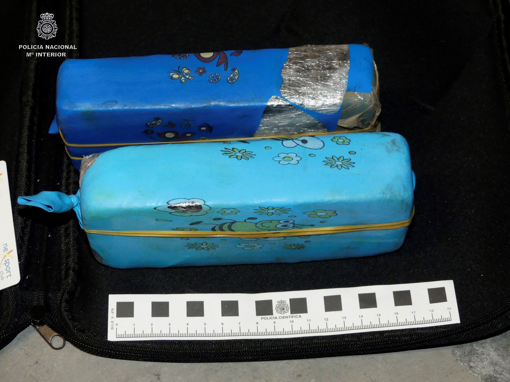 Paquetes de de heroína incautados por la Policía Nacional.