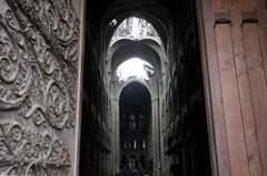 Interior de la catedral, fotografiado durante la visita del ministro de Cultura.