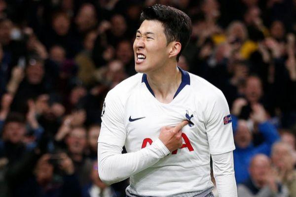 Son <HIT>Heung-Min</HIT> celebra el gol ante el Manchester City.