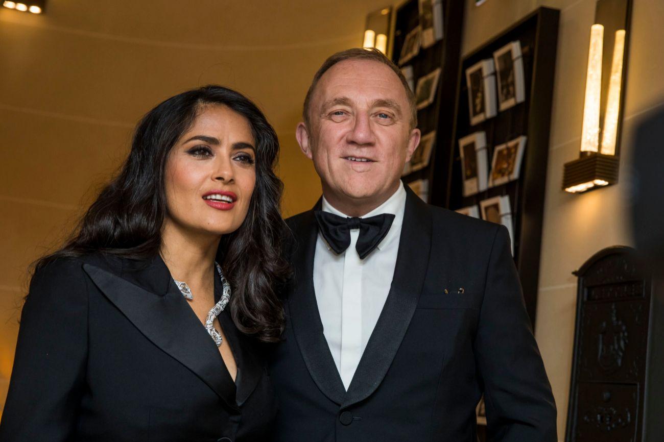 La actriz Salma Hayek y su marido el magnate François-Henri Pinault...