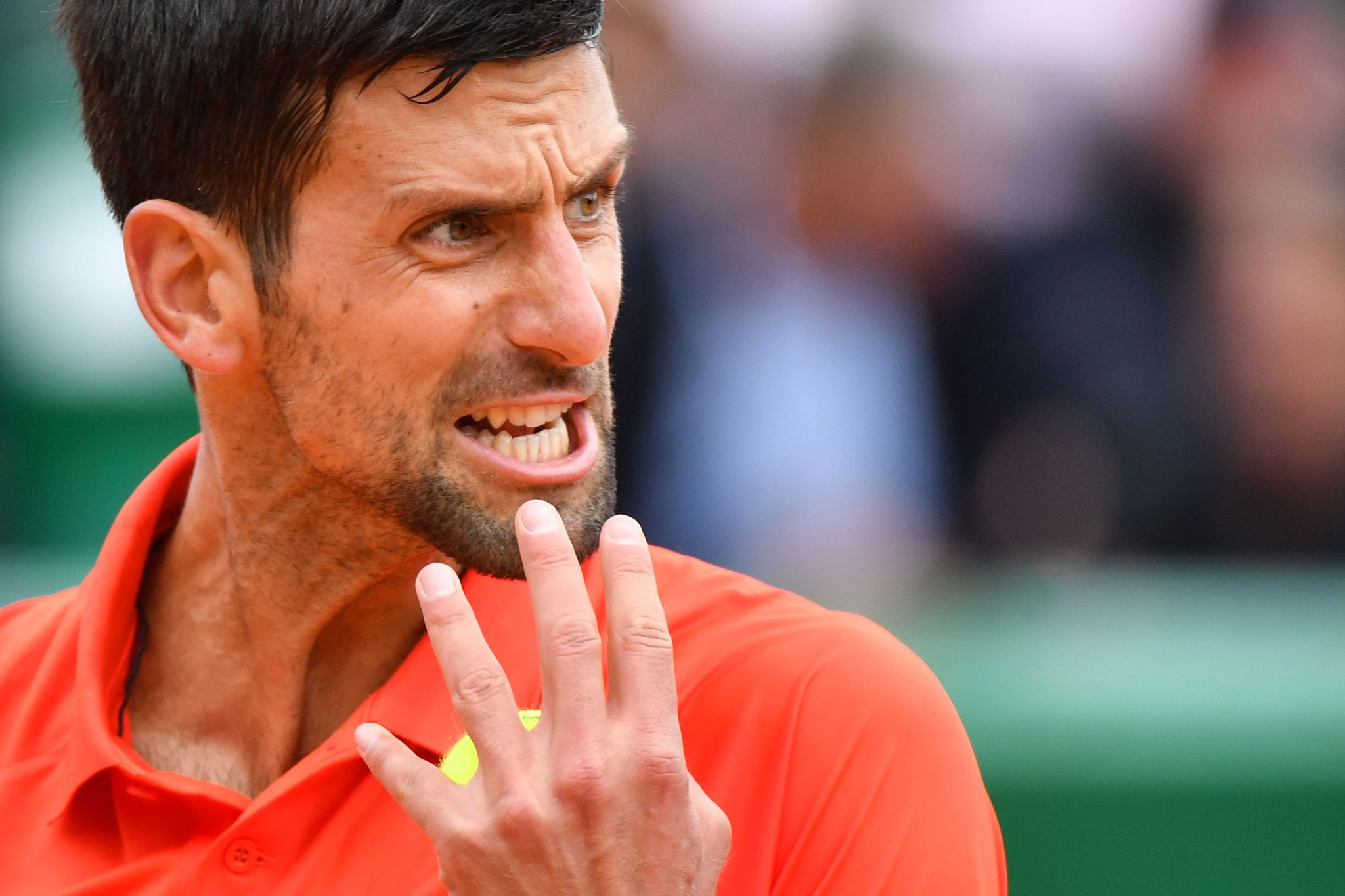 Novak Djokovic en su debut en Montecarlo