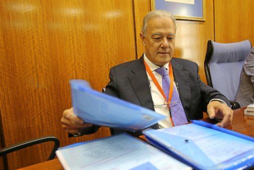El ex consejero y empresario de la formación Ángel Ojeda, en el Parlamento en abril de 2016.
