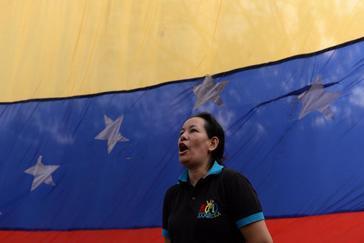 Una simpatizante de Juan Guaidó, el miércoles, en Caracas.