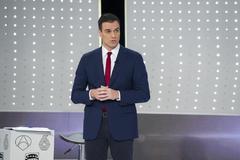 Pedro Sánchez, en el debate en Atresmedia celebrado en 2015 entre PSOE, PP, Ciudadanos y Podemos.