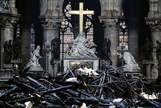 Así ha quedado el interior de la catedral