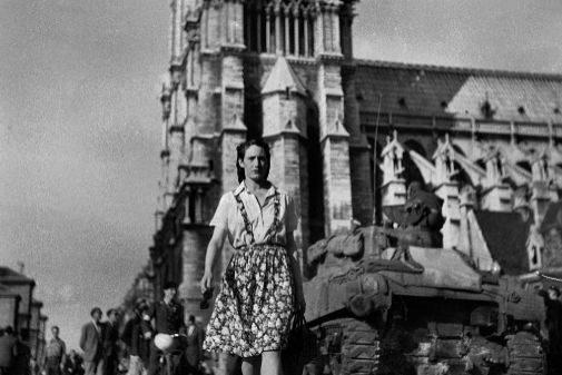 Notre Dame, en los días de la liberación de París, en 1944.