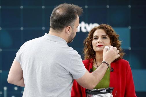 La ministra María Jesús Montero, antes del debate