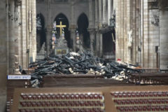 Primeras imágenes del interior de Notre Dame tras el incendio