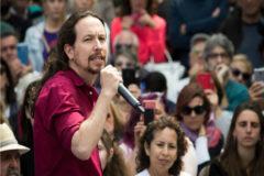 Pablo Iglesias en un mitin: '¡Viva España claro que sí!