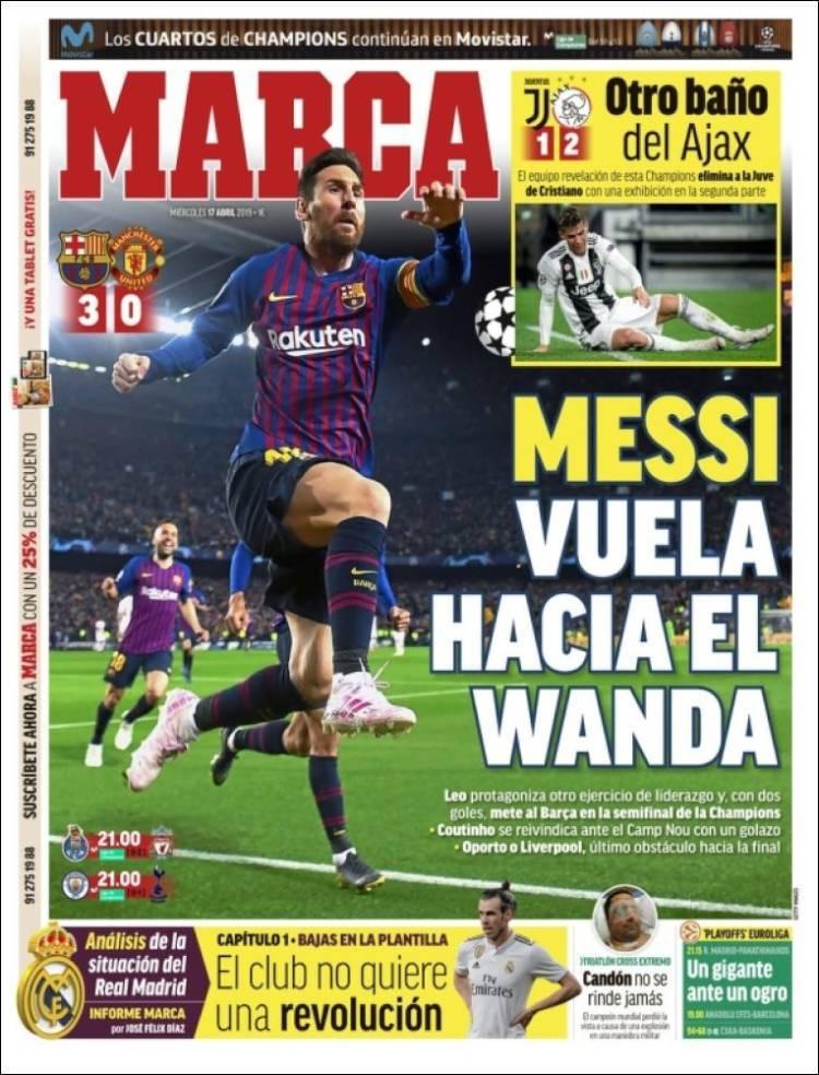 Las portadas de los periódicos deportivos del 17 de abril