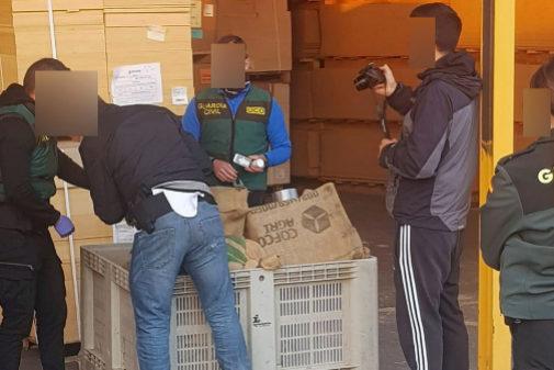 Foto que ha circulado por las redes atribuida a la operación en les Alqueries.